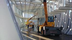 Cerimonia di conclusione dei lavori di costruzione della struttura portante del Padiglione Ungherese