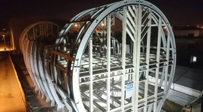 Celebrazione della fine dei lavori di costruzione della struttura portante del Padiglione Ungherese