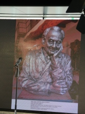 Una delle sculture celebrative dello scienziato ungherese Albert Szent-Györgyi, che saranno ospitate nel Padiglione Ungherese
