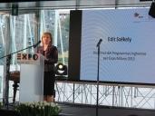 Edit Székely, Direttrice del Programma Ungherese per Expo Milano 2015 e rappresentante del Ministero delle Risorse Umane Ungherese