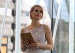 L'attrice ungherese Andrea Osvárt, testimonial di Expo 2015 per l'Ungheria
