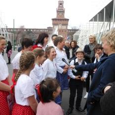 "I bambini di ""Magyar Ház – Casa Ungherese"" intervistati dalla tv di stato ungherese"