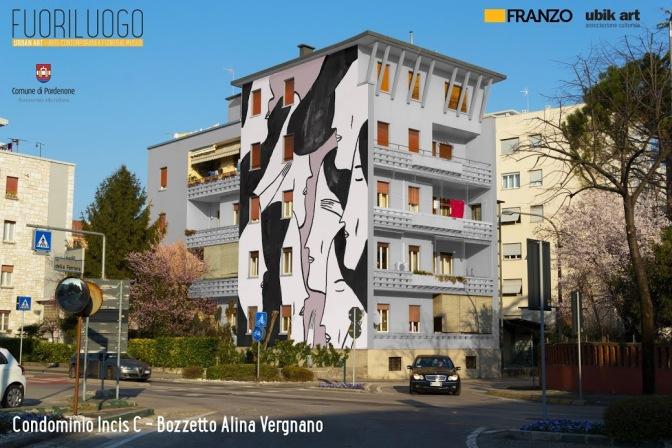"""FuoriLuogo"": Urban art internazionale a Pordenone. Tra gli artisti, l'ungherese Interesni Kazki"