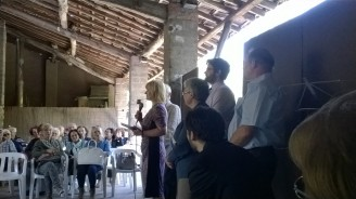 Tamás Szabó in mostra alle Fornaci Ibis di Cunardo - Inaugurazione, con la presenza di Edit Székely, Direttrice del Programma Ungherese per Expo Milano 2015 e rappresentante del Ministero delle Risorse Umane Ungherese