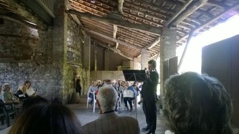 Tamás Szabó in mostra alle Fornaci Ibis di Cunardo - Concerto di Gábor Selmeczi, Primo Violino della Filarmonica di Vienna
